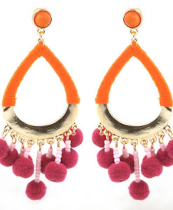 Bali Pom Earrings