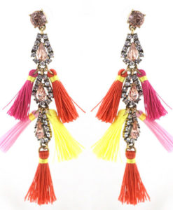 Tassel & Rhinestone Earrings